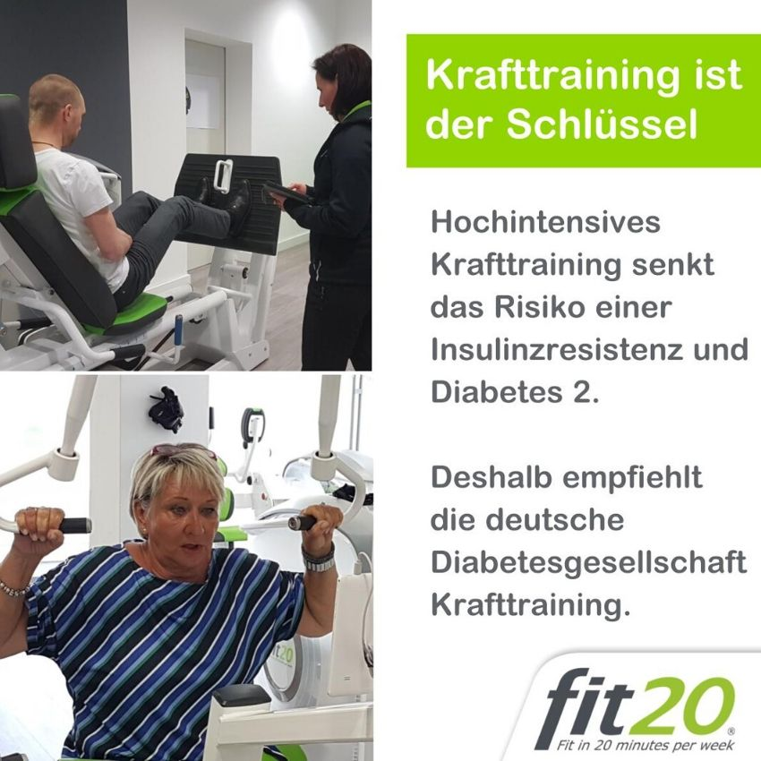 fit20 Poster Krafttraining Diabetes